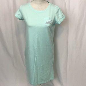 Vineyard Vines szS aqua/pink t-shirt dress